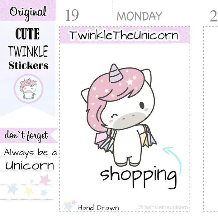 A151 | shopping stickers TwinkleTheUnicorn