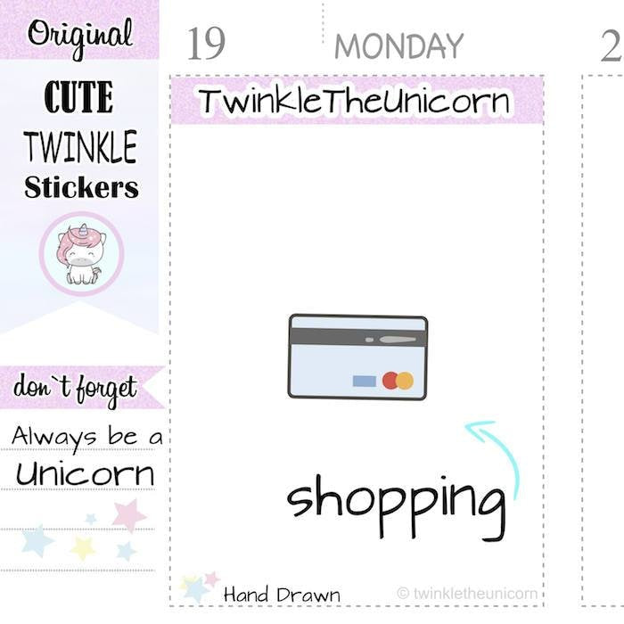 A154 | shopping stickers TwinkleTheUnicorn