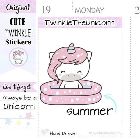 A166 | pool stickers TwinkleTheUnicorn