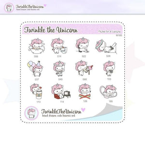 A191 | sampler stickers TwinkleTheUnicorn