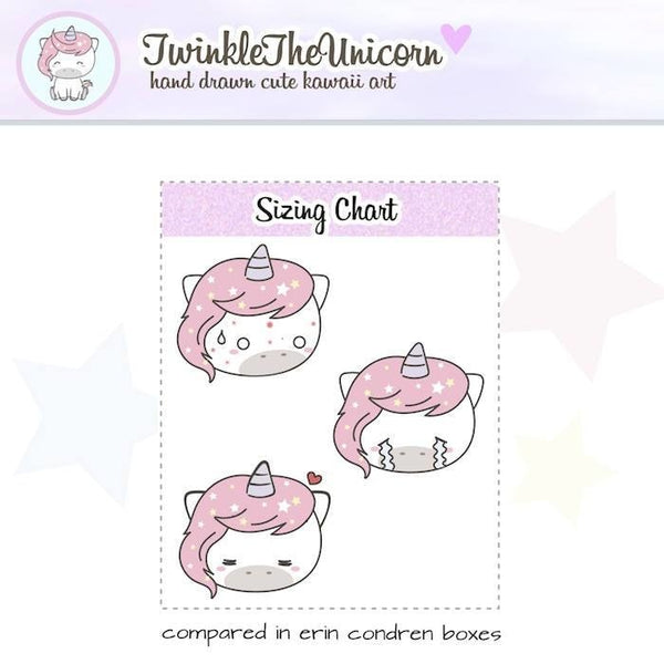 A201| emoticons stickers TwinkleTheUnicorn