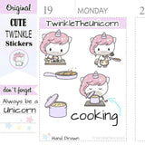 A206 | unicorn cooking stickers TwinkleTheUnicorn