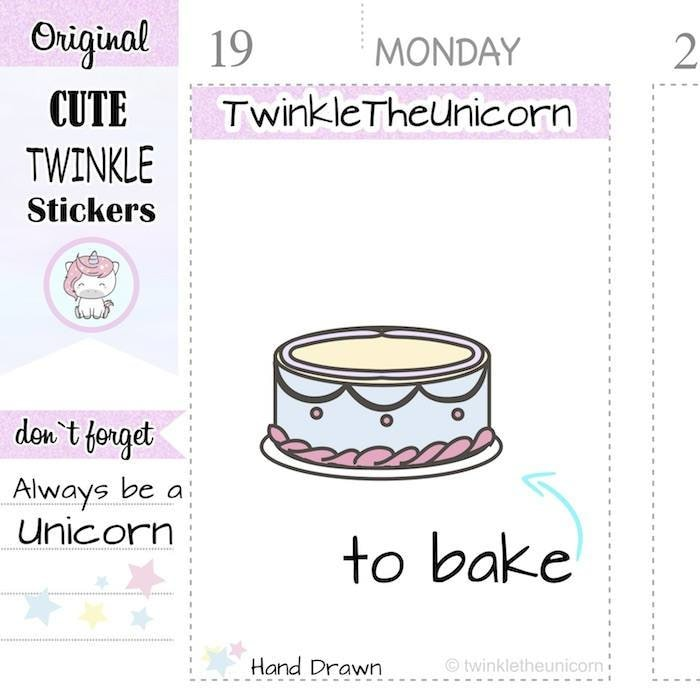 A214 | baking stickers TwinkleTheUnicorn