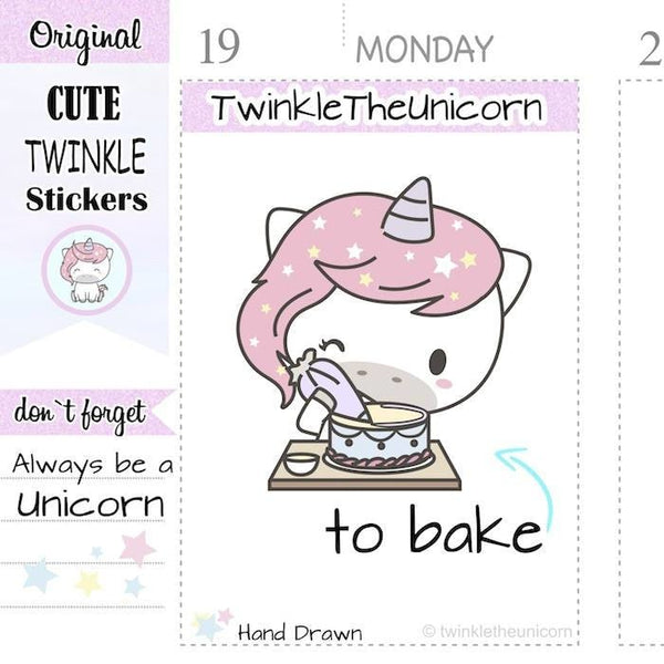 A215 | to bake stickers TwinkleTheUnicorn