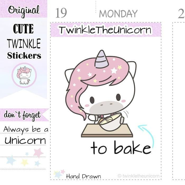 A217 | to bake stickers TwinkleTheUnicorn
