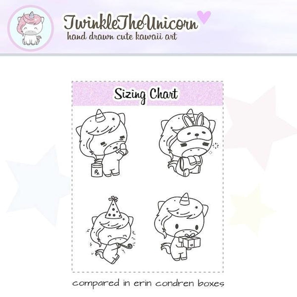A218 | clear stickers TwinkleTheUnicorn
