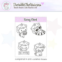 A221 | clear planner stickers TwinkleTheUnicorn