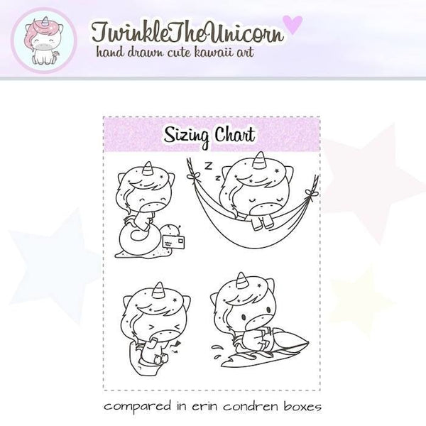 A222 | clear planner stickers TwinkleTheUnicorn