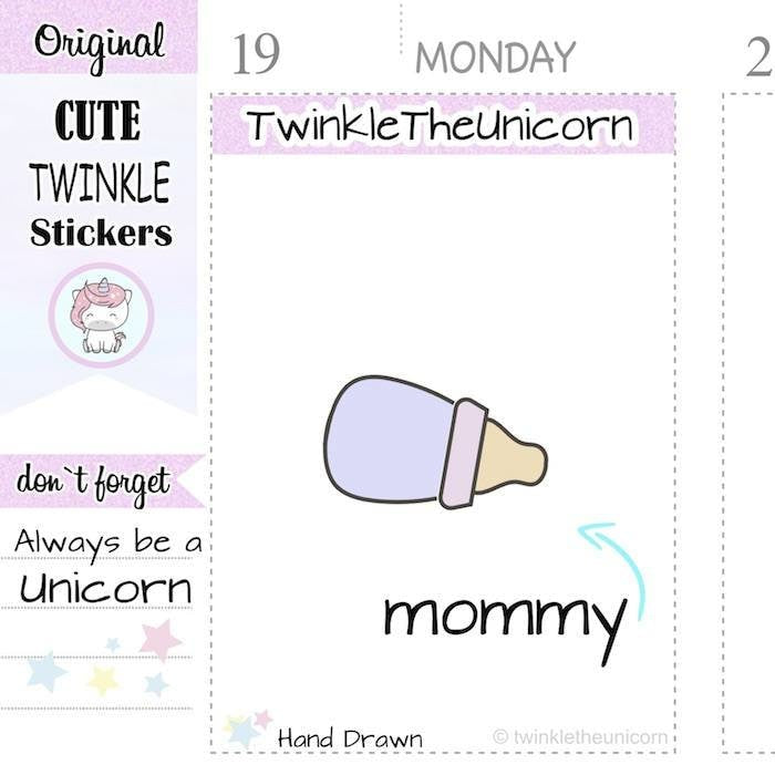A233 | mommy stickers TwinkleTheUnicorn