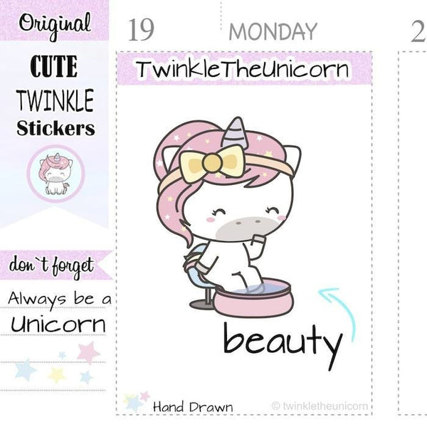 A247 | pedicure stickers TwinkleTheUnicorn
