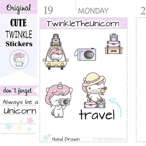 A270 | travel stickers TwinkleTheUnicorn