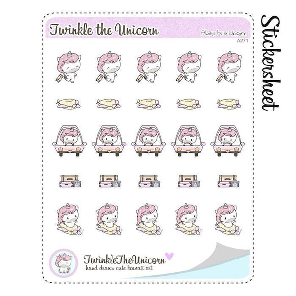 A271 | vacation stickers TwinkleTheUnicorn