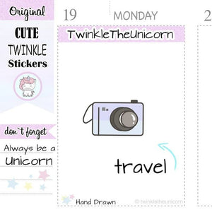 A273 | camera stickers TwinkleTheUnicorn