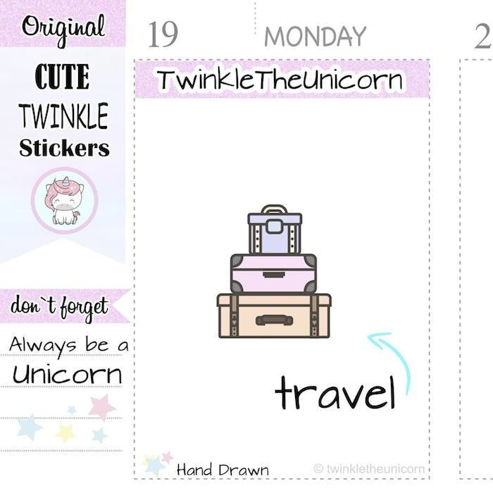 A275 | luggage stickers TwinkleTheUnicorn