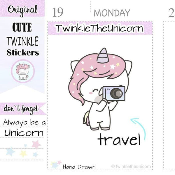 A276 | camera stickers TwinkleTheUnicorn
