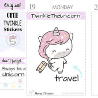 A277 | travel stickers TwinkleTheUnicorn