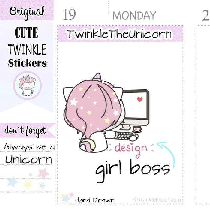 A286 | work stickers TwinkleTheUnicorn