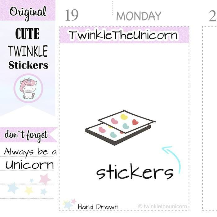 A287 | pack stickers TwinkleTheUnicorn