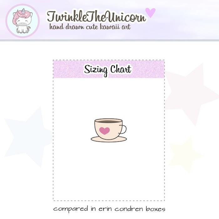 A296 | coffee planner stickers TwinkleTheUnicorn