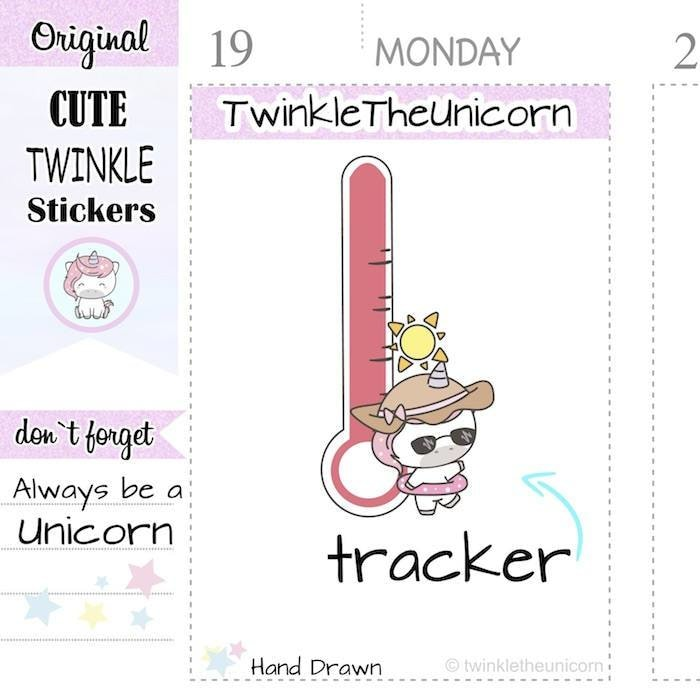 A298 | weather stickers TwinkleTheUnicorn