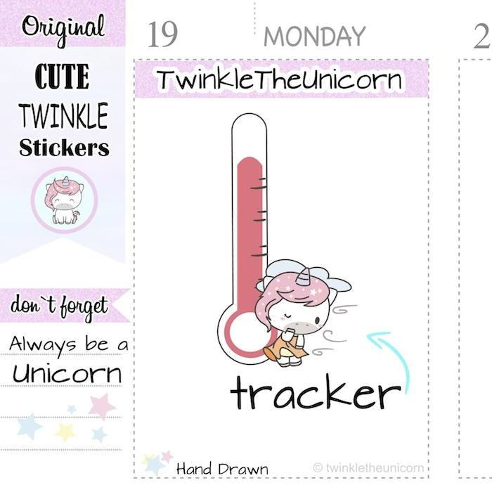 A299 | weather planner stickers TwinkleTheUnicorn