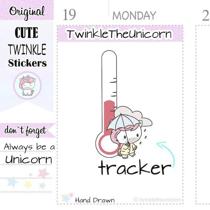 A301 | weather stickers TwinkleTheUnicorn