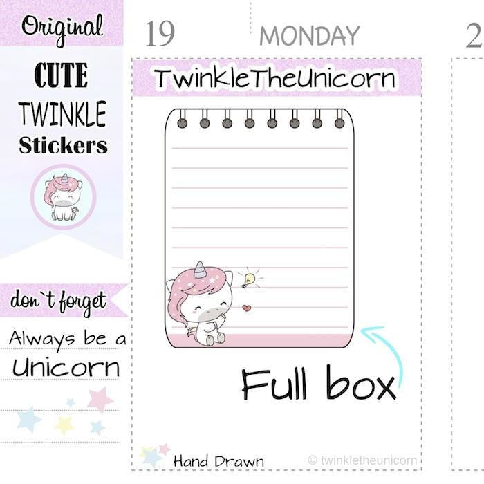 A310 | weekly full box sticker TwinkleTheUnicorn