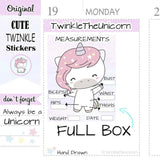 A319 | weight loss planner stickers TwinkleTheUnicorn