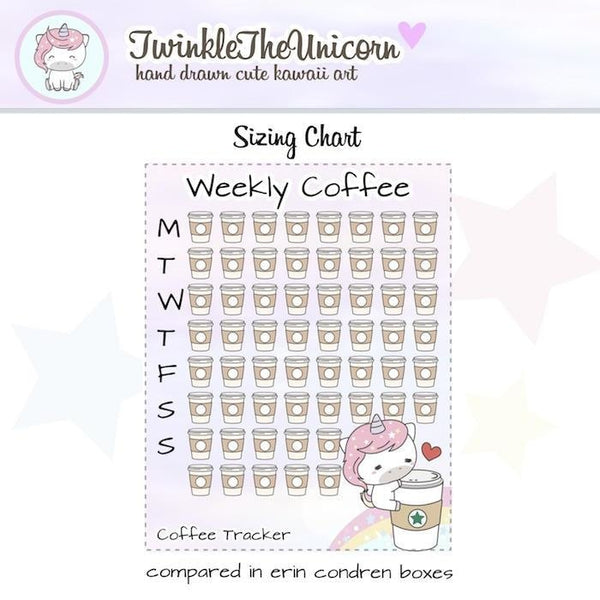 A321 | coffee planner stickers TwinkleTheUnicorn