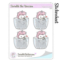 A323 | hydrate planner stickers TwinkleTheUnicorn