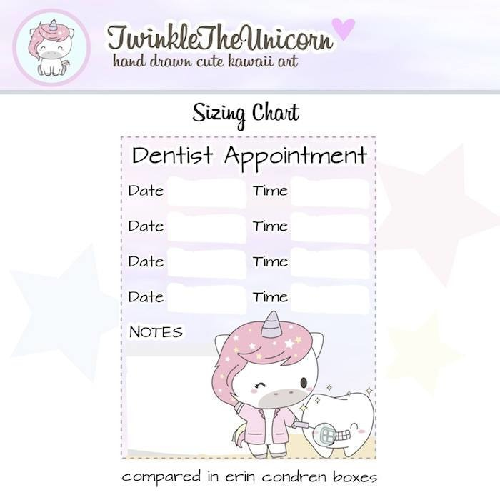 A334 | appointment planner stickers TwinkleTheUnicorn