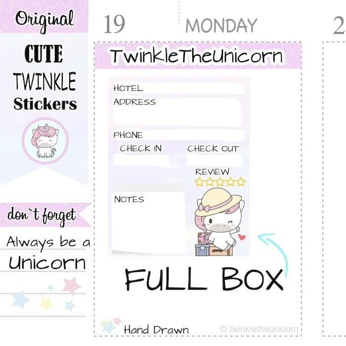 A341 | travel stickers TwinkleTheUnicorn