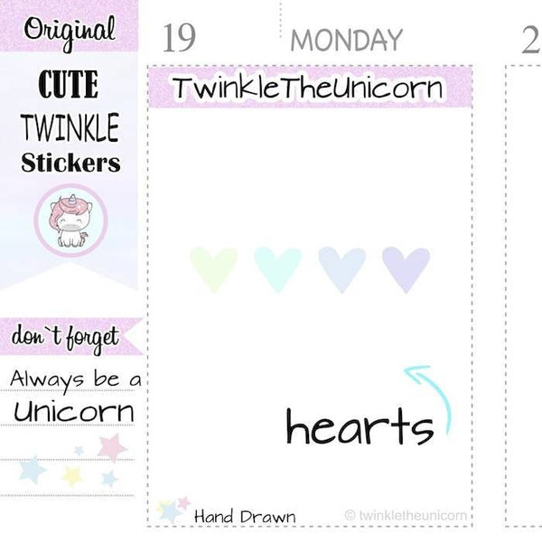 A345 | heart stickers TwinkleTheUnicorn