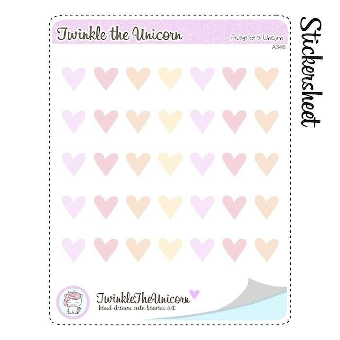 A346 | heart stickers TwinkleTheUnicorn