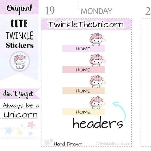 A351 | home headers stickers TwinkleTheUnicorn