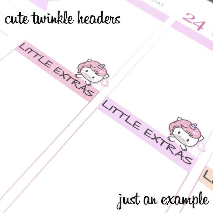 A354 | no school headers planner stickers TwinkleTheUnicorn