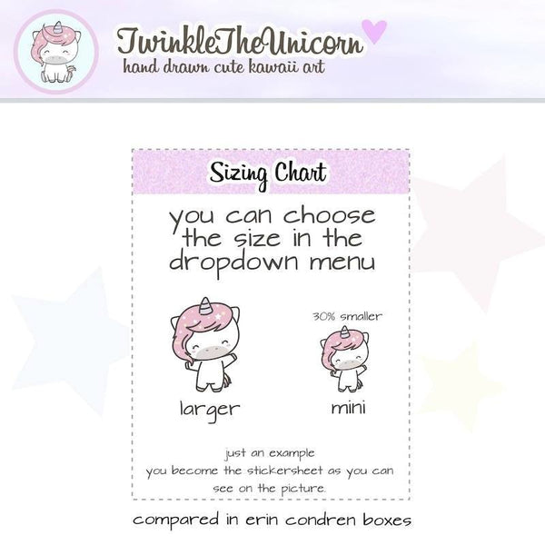 A373 | planner girl stickers TwinkleTheUnicorn