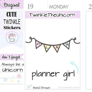 A374 | planning stickers TwinkleTheUnicorn