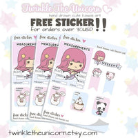 A375 planner girl stickers TwinkleTheUnicorn