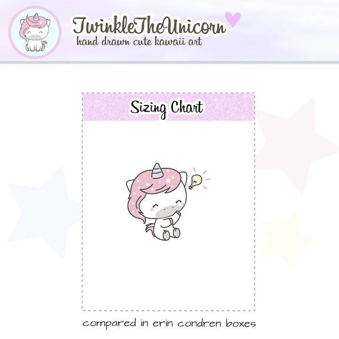 A383 planner girl stickers TwinkleTheUnicorn