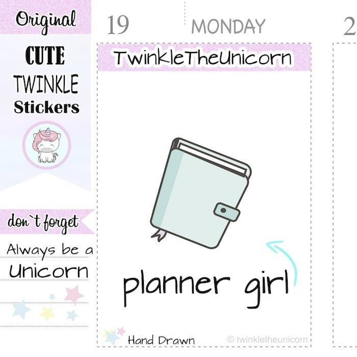 A384 planner stickers TwinkleTheUnicorn