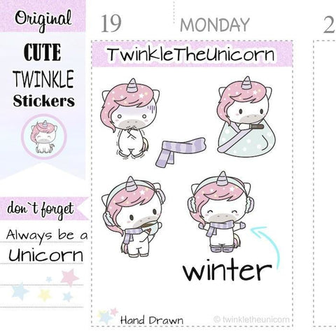 A385 | winter stickers TwinkleTheUnicorn