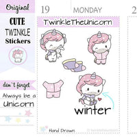 A386 | winter stickers TwinkleTheUnicorn
