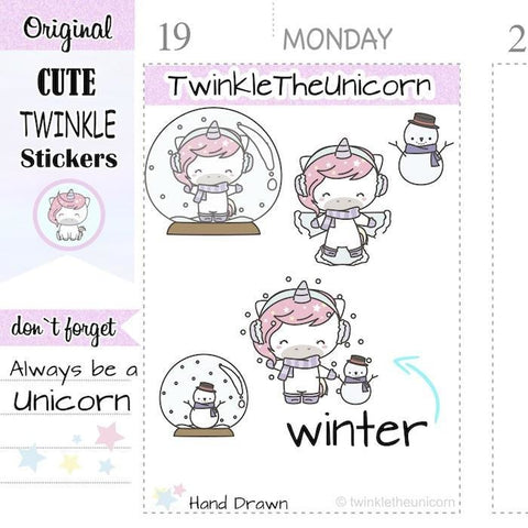 A389 | winter stickers TwinkleTheUnicorn