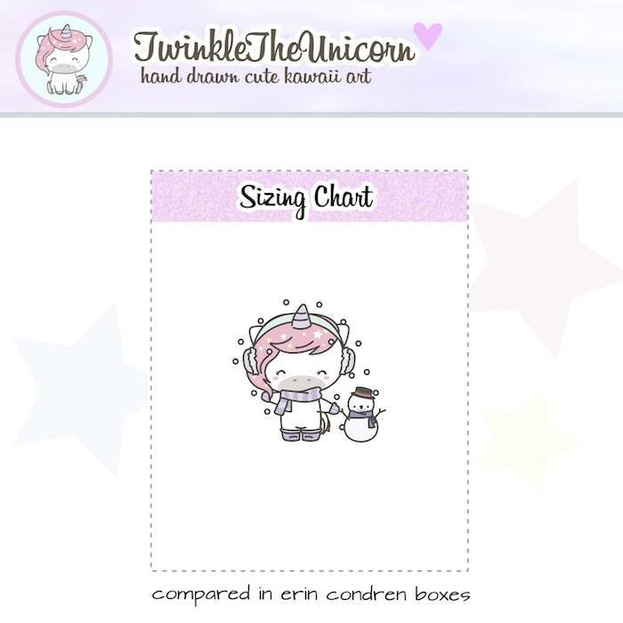 A392 | winter planner stickers TwinkleTheUnicorn