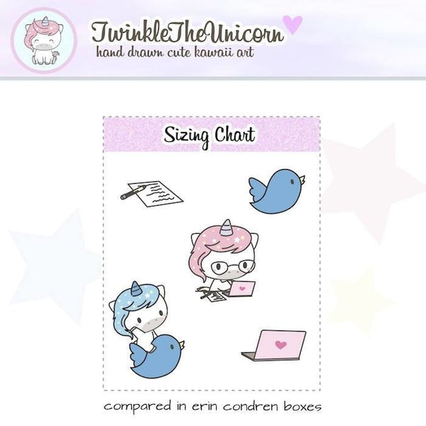 A396| blog planner stickers TwinkleTheUnicorn