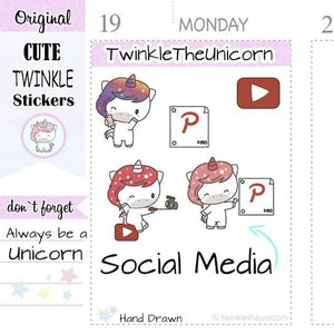 A397 | blog planner stickers TwinkleTheUnicorn