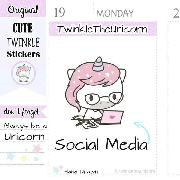 A400 | blogger planner stickers TwinkleTheUnicorn