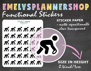 Football Player Planner Stickers 2538