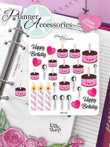 Birthday Stickers NR174 EmelysPlannerShop